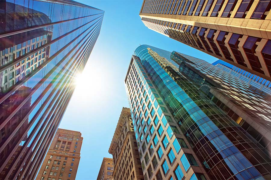 Business Insurance - View of Skyscrapers in Philadelphia at Sunrise